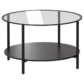 Vittsjö sofabord sælges. Et par måneder gammel.   VITTSJÖ Sofabord, sortbrun/glas 75 cm  Skal afhentes i Aalborg  Nypris 299.-