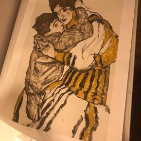 Egon Schiele plakat i stof. Flotte og klare farver i virkelig god kvalitet  Mål: 30 x 45 cm  Kan sendes eller hentes i Ørestad Syd/Amager