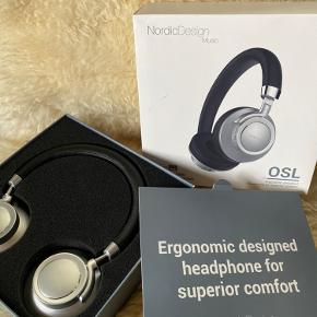 Super fine hovedtelefoner fra NordicDesign Music. 1 år gamle, aldrig brugt, og alt originalt medfølger.