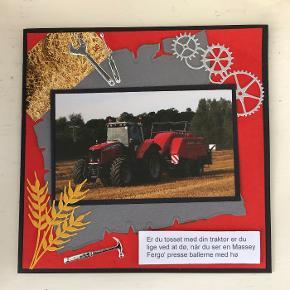 Kort til en anledning, med tekst til den traktorinteresseret. str. 14,8 x 14,8 cm. Inkl. kuvert. Se også mine andre kort.