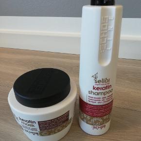 Seilar super lækker keratin kur 500 ml.  Og keratin shampoo  350 ml uden parabener, og parfume. Lækkert til tørt hår. Kan sendes Afh. Tisvilde