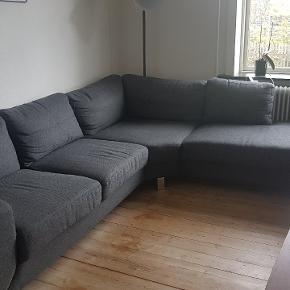 Mørke grå sofa Hjort Knudsen købt i BoBedre Esbjerg, kun 2 år gammel Sælges udelukkende pga flytning til mindre Fejler intet! 285x225 cm Nypris 13.000