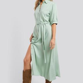 Puff Sleeve Belted Midi Dress