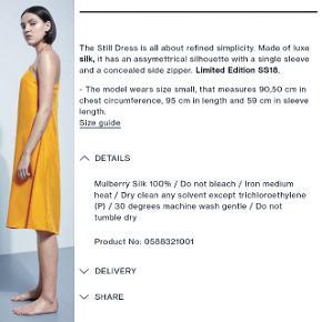 Sindssygt lækker, luftig silkekjole - aldrig brugt Str M - fitter fra M-XL