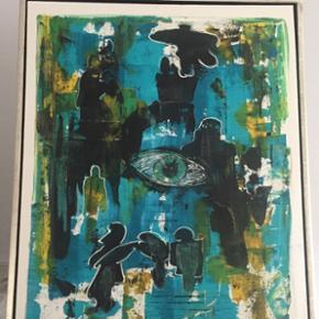 Maleri inkl ramme sælges. Mål: 64x84x3,5cm  Afhentning i Valby
