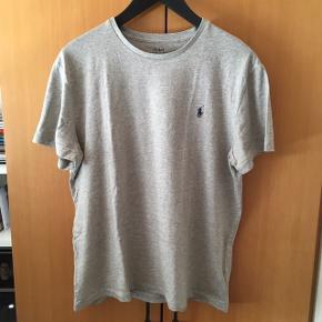 Mp: 100 Str. L Custom Slim Fit Polo Ralph Lauren Grey Heather T-shirt Brugt og vasket 2-3 gange