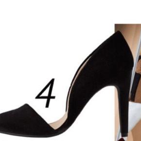 """Brugt én gang. Har markeret som """"god men brugt"""", da der er tegn på brug i sålen """"se billede"""". Skoen ser ellers næsten ud som ny. Stoffet er velour. De er fra en kollektion fra bloggeren Caroline Berg Eriksen. De passer en tynd fod som str 38, ellers en 37-37,5 (jeg er selv 37,5)."""