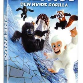 0063 - Snefnug: Den hvide gorilla (DVD)  Dansk Tale - I FOLIE   Snefnug Snefnug er speciel, for han er den eneste hvide gorilla i verden. I zoologisk have er han hovedattraktionen og alle børnene elsker ham, men de andre gorillaer kan ikke se hvad der er så charmerende ved denne særling, der stjæler al opmærksomheden. Med hjælp fra den røde panda Ailur og den kvikke, lille pige Paula, planlægger Snefnug at snige sig væk og opsøge heksen i cirkus, så hun kan hjælpe ham til at blive en normal gorilla. Men uden for dyreparkens trygge mure lurer mange farer. Ulykkesfuglen Thomas er overbevist om, at den hvide gorilla er den lykkeamulet, han skal bruge for at blive fri for alt sit uheld, og han er klar til at gøre hvad det skal være for at fange Snefnug. Tekst fra pressemateriale