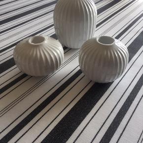 Kahler Hammershøj Lysestager 3 i hvide i forskellige faconer sælger stykke til 75 kr. stk.🌸eller sælges samlet for 150kr🌸Fejler intet fremstår som nyebefinder sig Ribegade 6700 Esbjerg