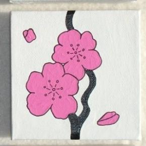 Brand: DIY Varetype: Cherry Blossom gren - kirsebær blomster Størrelse: 10x10 Farve: - Denne vare er designet af mig selv.  Eget design. De er malet med Akrylmaling på lærred. Signeret.  Lad ikke malerierne røre hinanden, da de kan klister sammen. Egen påsætning af ophængning   Før: 250kr pp. NU KUN: 150pp  - For en blomst af 3skt malerier 10x10cm.    * * * Se også mine andre annoncer * * *