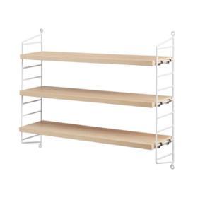 Brand:String Furniture Designer:Nils Strinning Materiale: Pulverlakeret stål/Fineret mdf Mål: B:60 x H:50 x D:15 cm  Er som ny fejler intet.