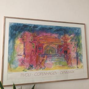 Poster med Tivoliindgang; 100*70 cm - RAMME MEDFØLGER IKKE Købt i indre by for 200 kr. Hentes på Amager