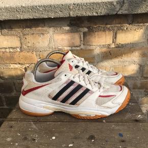 Vintage Adidas sneakers Hvid/rød Str 41 1/3