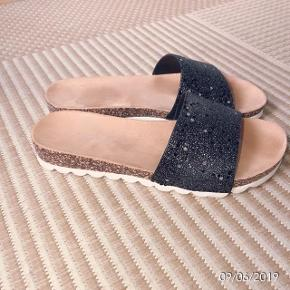 Sixth sense sandaler sorte med sølvnister str 37