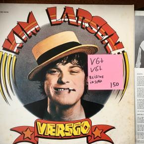 Kim Larsen værsgo med solgul orange label insert Pladen er pæn og cover pænt  Kim Larsen fra Gasolin og kjukken
