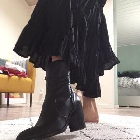 The most comfortable soft leather boots . Heel measure 8cm