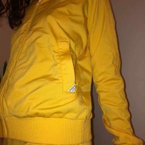 Unikt Sample Adidas tracksuit i gul. Sælger dette unikke tracksuit jeg har fået i gave, da jeg desværre ikke får det brugt nok. Da det er et sample piece, har det aldrig været til salg i butikkerne og kommer det aldrig.   Pris:  - mp: 750  (sælges kun samlet) - Bin: 900 Cond: 9/10