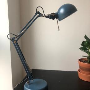 Blue desklamp from Ikea.  It's been used for 3 months, so it is in good shape.  Pickup location: Teglholmen