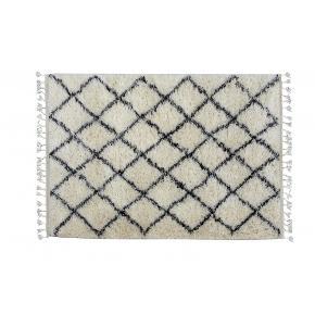 """Håndvævet Nordic Marocco """"6"""" tæppe fra Kreatex sælges. Måler 85 x 200 cm.  Ny pris 1700 kr Tæppet er helt nyt og aldrig åbent.  95% uld  5% hør  Kan sendes eller afhentes i Odense C"""
