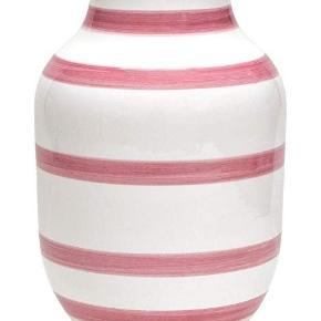 Kähler vase med rosa striber