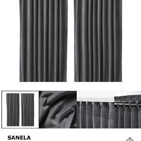 Ikea gardiner i mørkegrå samt gardinstangskombination. Fejler ingenting.  Samlet pris: 350kr