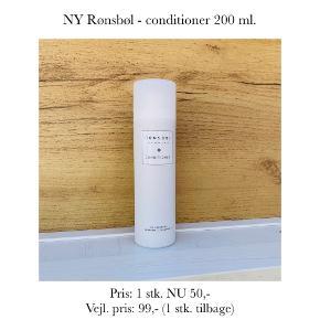 NY Rønsbøl - conditioner 200 ml.   Pris: 1 stk. NU 50,-  Vejl. pris: 99,- (1 stk. tilbage)   Se også over 200 andre nye produkter, som jeg har til salg herinde :-)