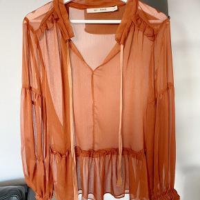 Super fin orange/brun bluse! Brugt en gang!