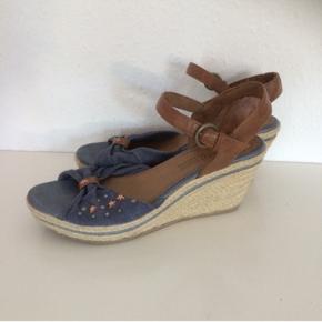Marco tozzi   Yders fine heels  str 39 Jeans farve og kobber   Sender gerne
