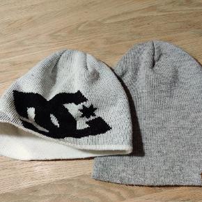 DC Shoes hue hvid/sort ingen pletter.  DICKIES Grå hue ingen pletter.   Sælges samlet!