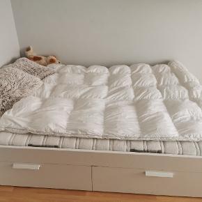 Sælger min halvandenmands seng, da jeg skal have en dobbeltseng. Den er komfortabel at sove i.  :)