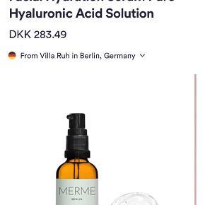 """Merme Berlin Hyaluronsyre serum 30 ml  Ny.    Kan afhentes på Islands Brygge eller sendes efter ønske 💌  Brug gerne """"Køb Nu"""" 😊"""