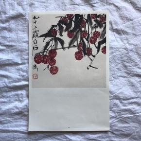 Kinesisk Art poster ⛩ Kunster: Qi Bai Shi The National Art Museum of China🎋 To-sidet 28x42 cm  Poster købt i souvenir shoppen ✨  Flere forskellige posters -skriv gerne ☺️
