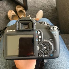 Canon spejlreflekskamera. Fungerer fuldstændigt som fra nyt. Taske, oplader og SD kort medfølger