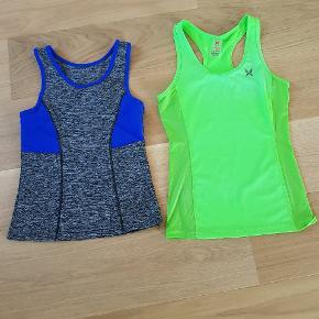 Til venstre: træningstop, ukendt mærke, str xs. Til højre: Kari traa træningstop, str xs.