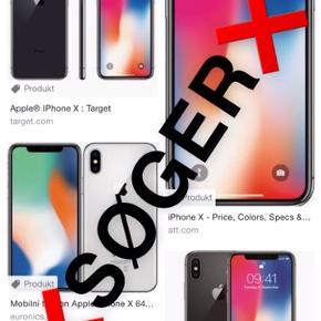 Hej, jeg søger en iPhone x ligeglad med farve og GB.  Den skal medfølge kvittering, æske, lader og høretelefoner.  Den skal være i god stand  Søger en enten i København eller på Nordsjælland.  Vil give 4000-4500 kr  Du må gerne skrive hvis du sidder inde med en:)