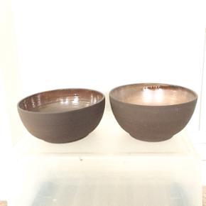 Enø keramik skåle. Sælges samlet. H: 10cm 10,5 diameter/ 21 cm   Søgeord: dansk, brun, mad, speciel.