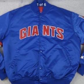 Starter New York Giants jakke.jeg har købt i Usa.90s.Brugt 2-3 gange.Str.XXL men XL :) Supreme very rare