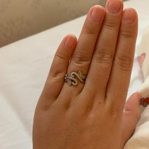 Amazing Jewelry ring  925 Sterling sølv med zirkonia   Str 50  Nypris var 500