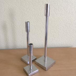 Stål lysestager højde: 17 - 27 - 38 cm købt i Incado