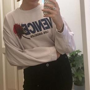 Lyserød/dusty pink oversize sweater med print