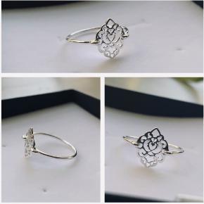Smuk sølv ring i ægte sølv str 55 (stemplet 925) aldrig brugt  135 kr