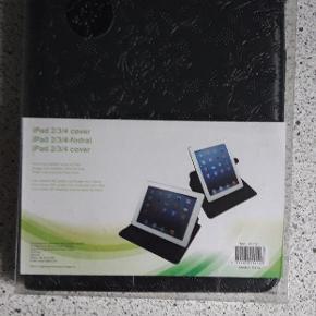 Pænt sort mønstret cover til iPad 2/3/4....  Ligger stadig i æske.