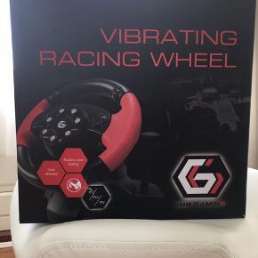 Vibrating raceing wheel. Købt i England Men min søn vil hellere have et G29. Så derfor sælges dette.