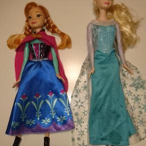 Frost, Anna & Elsa dukker. 150 kr./stk. eller begge for 250 kr