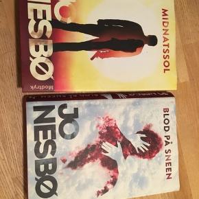 to romaner, thriller, Jo Nesbø Midnatssol og Blod på sneen, hardback stand næsten som ny. Samlet pris 90kr Kan hentes Kbh V eller sendes for 38kr DAO