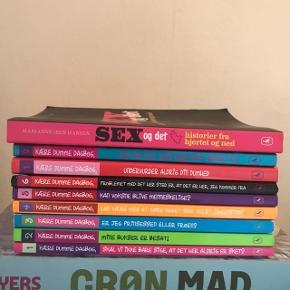 Forskellige bøger, spørg for enkelte bøger. Madbøger, kogebøger og kære dumme dagbog serien. 100 kr. stykket.