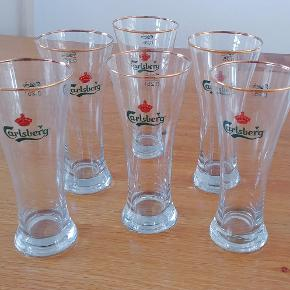 Meget flot Øl glass. 6stk Orginal fra Carsberg. Samlet pris