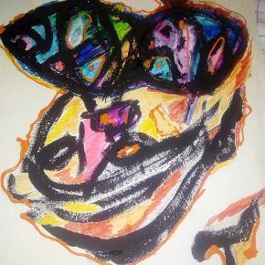 Sælger disse malerier UDEN Ramme. A3 str.   Følg med på min profil, flere maleier