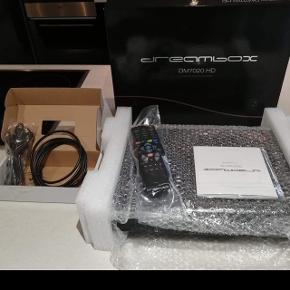 Dreambox DM7020 V2 HDTV 2x DVB-S2 Tuner PVR 500GB HDD. Medfølger to paraboler og 4 LMP.  Kan afhentes i Aarhus  Kvitteringen medfølger