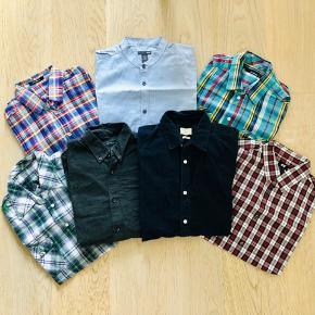 7 x skjorter (aldrig brugt/næsten som ny) Sælges samlet for 250 kr.  Nypris over 3000 kr.  (kan sendes for 50 kr.)
